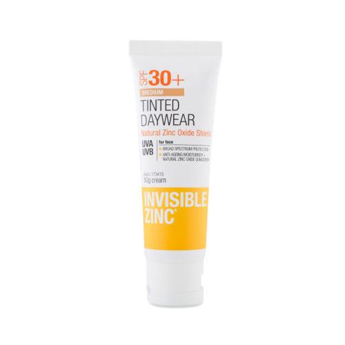 Invisible Zinc tinted daywear, sunscreens, tinted moisturiser, sun protection, beach, summer