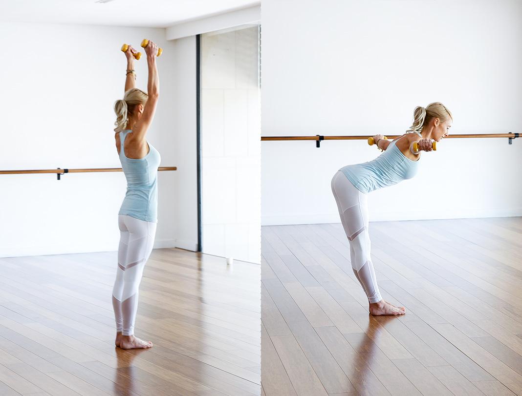 Tricep workout, arm workout, yoga flow, vinyasa, Kate Kendall