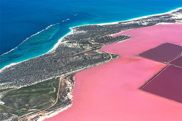 Port Gregory Pink Lake, Western Australia, WA