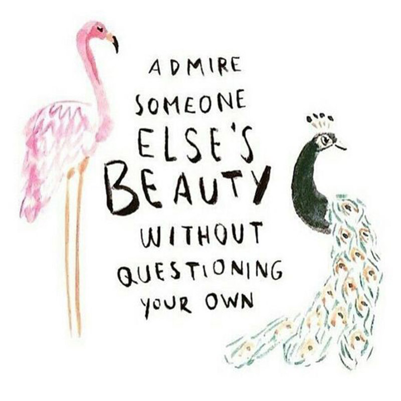 admire someone elses beauty