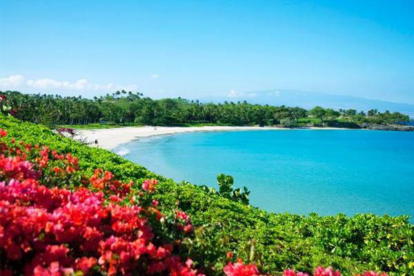 Kauna'a Bay, Hawaii, white sand beach