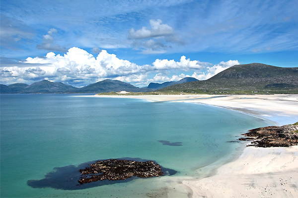 Luskentyre Beach, Scotland, white sand beaches