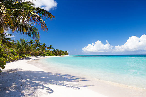 Playa Flamenco, Puerto Rico, white sand beach
