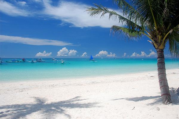 White Beach, Philippines, white sand beach