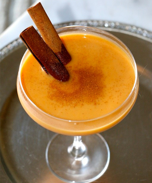 Pumpkin Spiced Cocktail, holiday cocktails, alcohol, low calorie