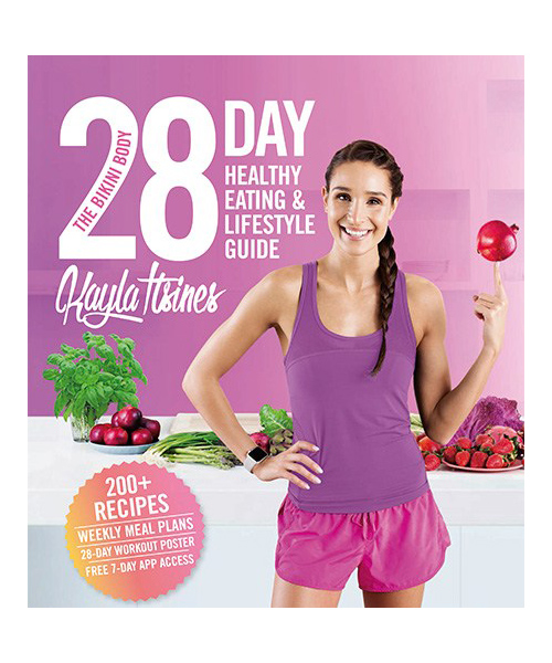 The Bikini Body 28-Day Healthy Eating & Lifestyle Guide, Kayla Itsines, Christmas gift guide, presents, cookbook