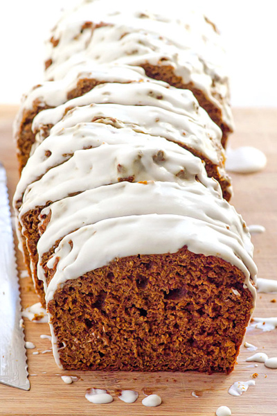 healthy holiday treats, healthy christmas desserts, gingerbread loaf