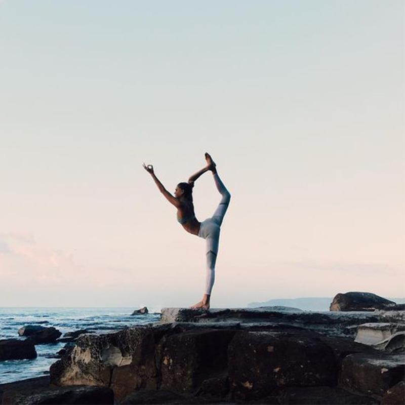 yoga, girl doing yoga