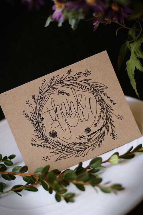 thank you note, stationery, Christmas, houseguest