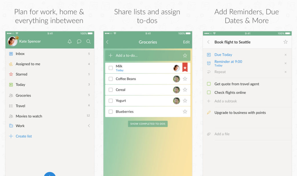 wunderlist, wunderst app, to do list app, productivity app