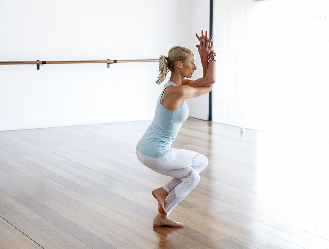 Eagle, balance, booty, bum workout, Kate Kendall