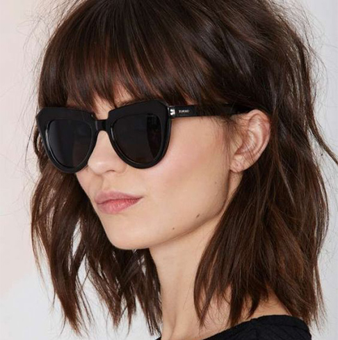 bangs, lob, hair trends