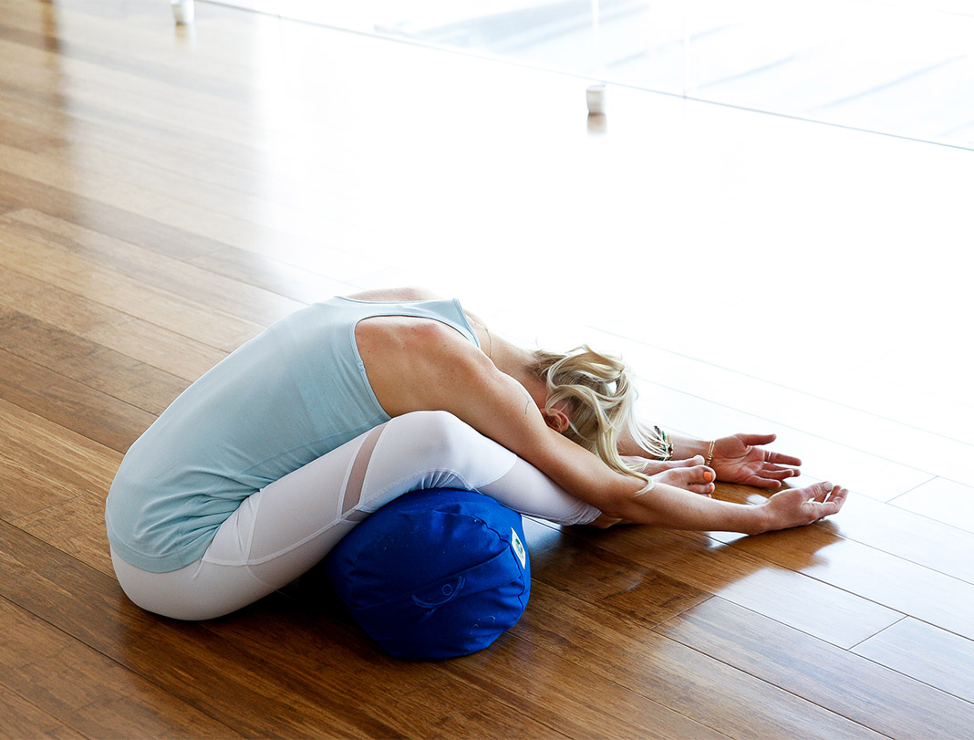 Butterfly pose, yoga, rest, restorative, Kate Kendall, relaxation