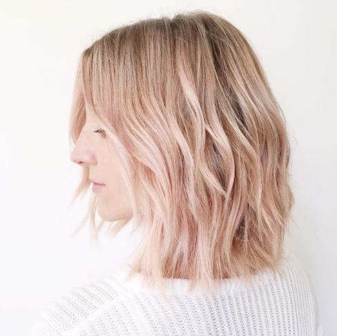 rose gold hair, hair trends, hair colour