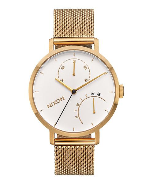Nixon, gold watch, wardrobe