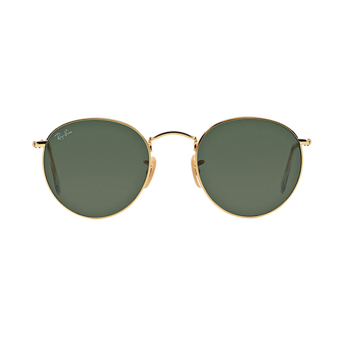ray-ban round metal sunglasses, fashion blogger, ray-ban gold sunglasses