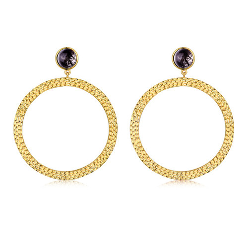F+H Bianca Large Hoop Earrings, fashion blogger jewellery