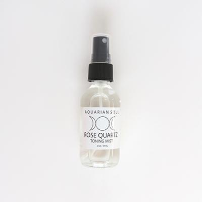 Aquarian Soul Rose Quartz Toning Mist, crystal healing, beauty