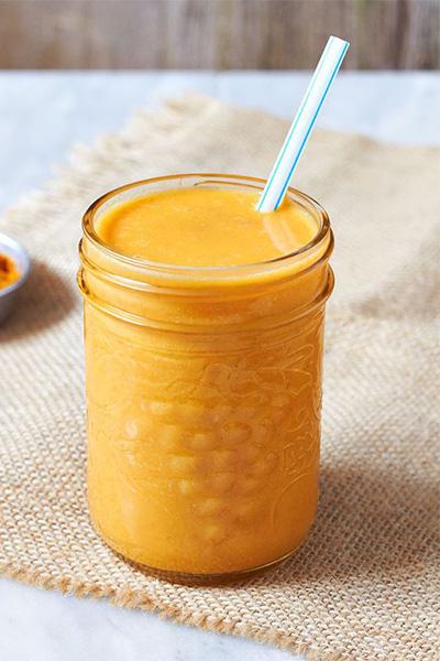 Carrot Mango Turmeric Smoothie, smoothie recipes, vegan