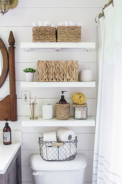 small apartment, baskets, lifestyle