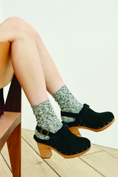 clogs and socks, socks and sandals