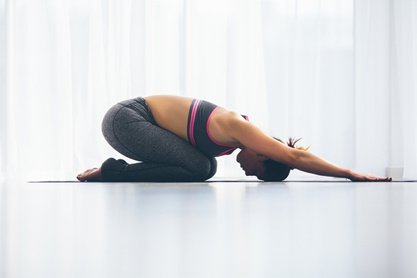 Child's Pose, hamstring, stretches