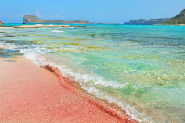 Balos Bay, Crete, pink sand, beaches, travel