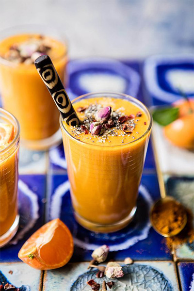 Turmeric, spices, autumn, cooking, smoothie