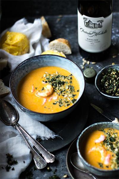 Saffron, soup, spices, autumn