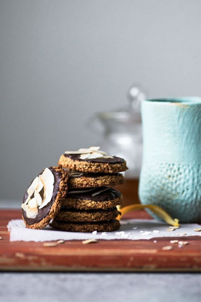 Healthy Nibbles & Bits Chocolate Orange Oat Biscuits, Anzac Biscuits