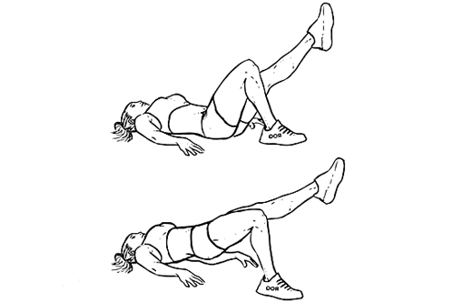 single leg hip thrusts