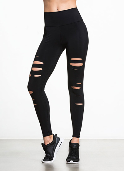 High-Waist Ripped Warrior, leggings, Alo Yoga, activewear, style