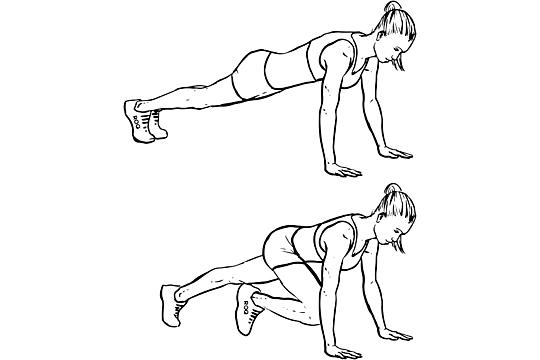 ab exercise, mountain climbers
