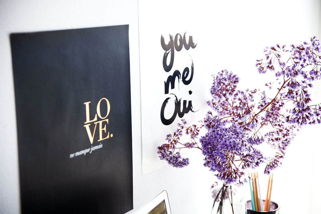 Inspirational prints from Etsy