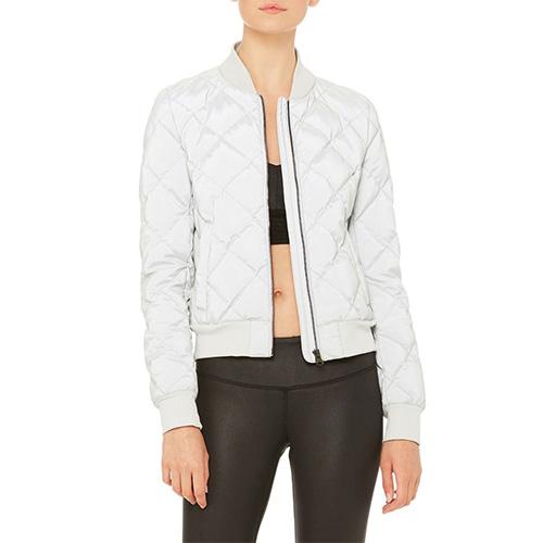alo yoga, bomber jacket, fashion, activewear, splurge