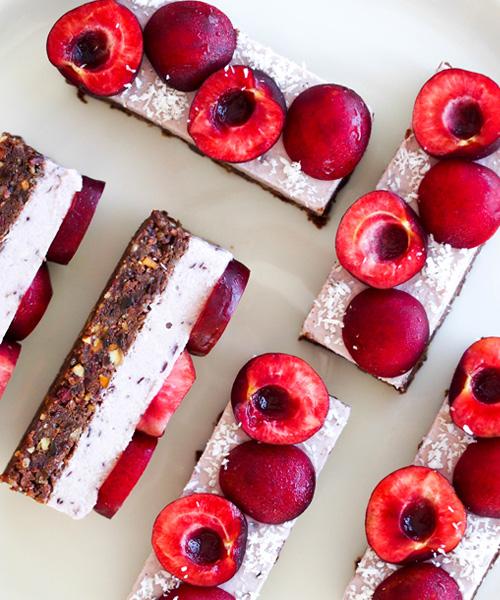 Coconut Cherry Ripe Slice, dessert
