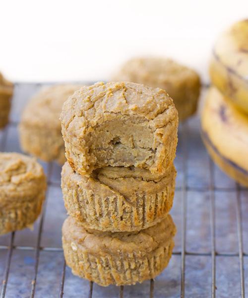 Flourless Banana Muffins, dessert, recipes