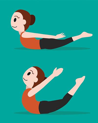 Locust Pose, yoga, posture