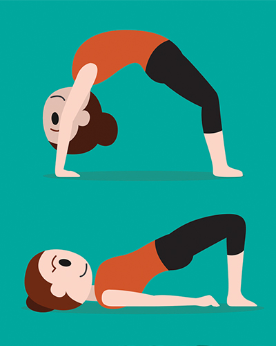 Bridge Pose, yoga, posture