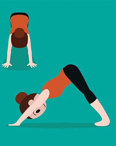 Downward Facing Dog, yoga, posture