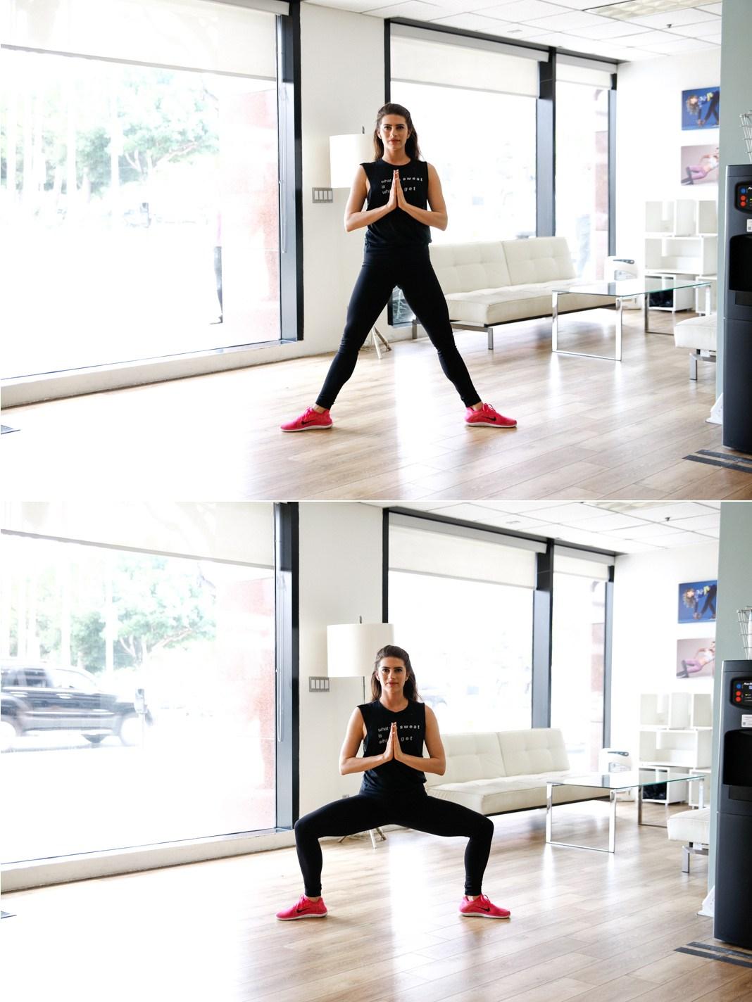 Sumo squat, fitness, equipment, butt exercises
