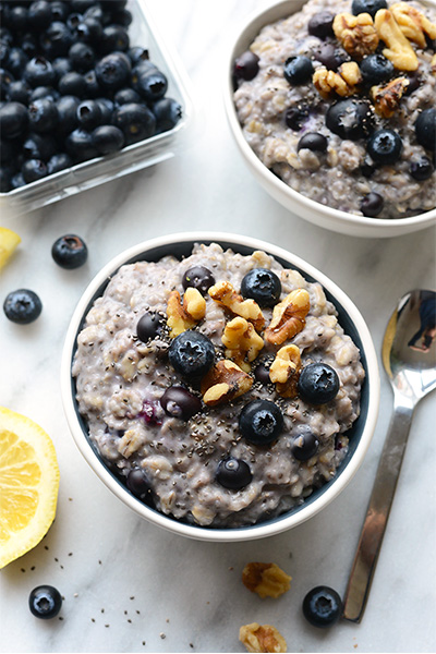 Blueberry Chia Oatmeal, recipes