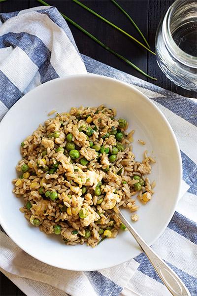 Veggie Fried Rice, recipes, healthy