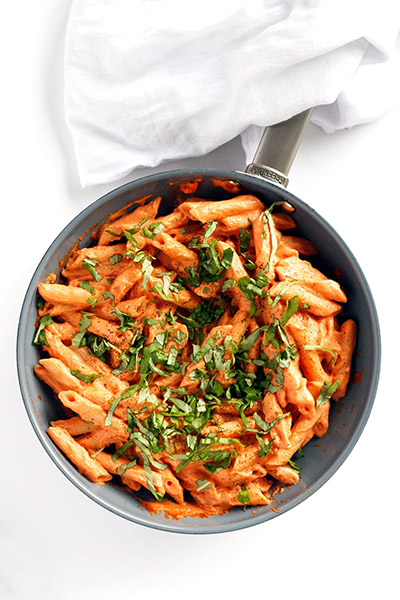 Tomato Basil Cream Pasta, vegan pasta, recipes