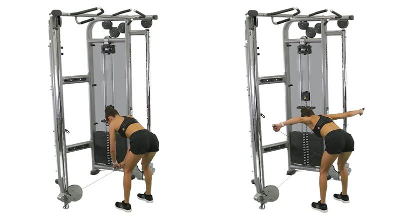 Kayla Itsines Back Exercises, Bent Over Reverse Fly