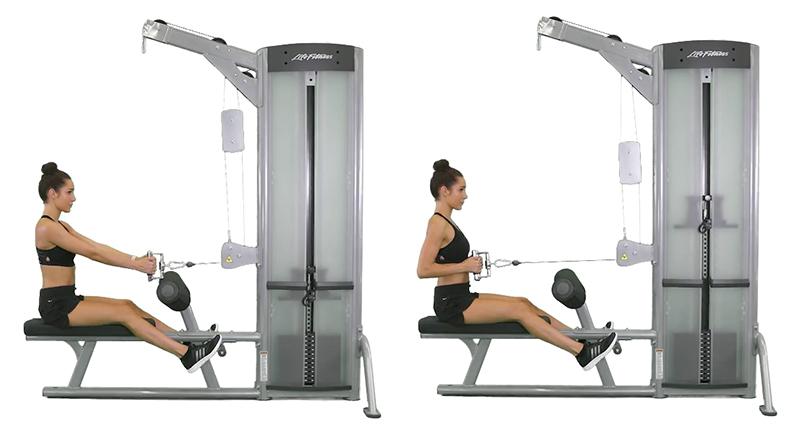 Kayla Itsines Back Exercises, Seated Row
