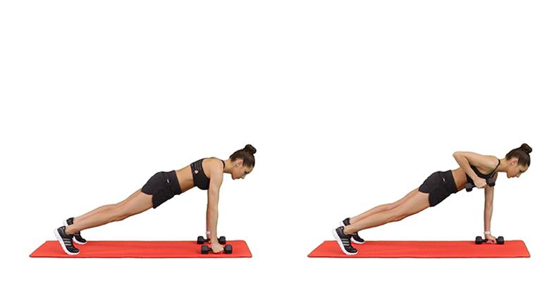 Kayla Itsines Back Exercises, Renegade Row