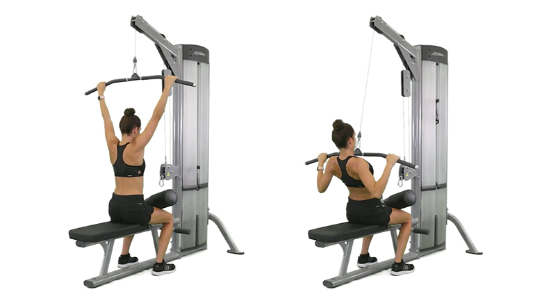Kayla Itsines Back Exercises, Wide Grip Lat Pulldown