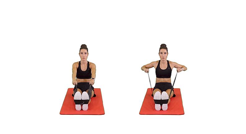 Kayla Itsines Back Exercises, Wide-grip Seated Row