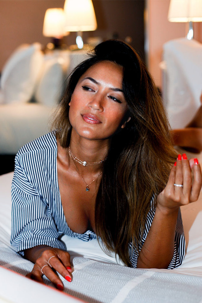 Bianca Cheah modelling Swarovski's all new Remix collection